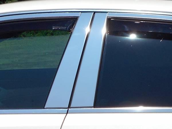 QAA - Cadillac CTS Sport Wagon 2010-2014, 4-door, Sport Wagon (4 piece Stainless Steel Pillar Post Trim ) PP48250 QAA