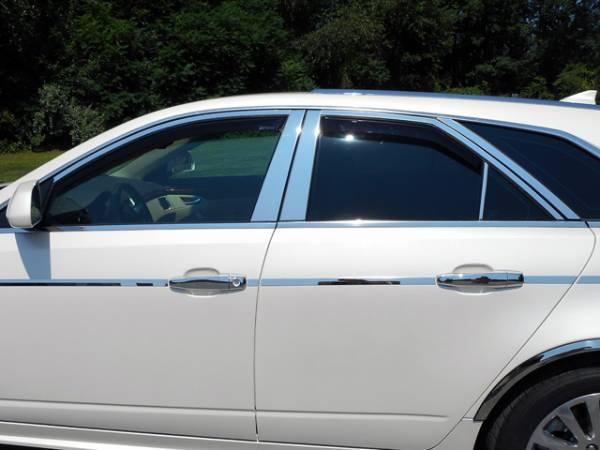 QAA - Cadillac CTS Sport Wagon 2010-2014, 4-door, Sport Wagon (12 piece Stainless Steel Window Trim Package Includes Upper Trim and Pillar Posts, NO Window Sills ) WP50251 QAA