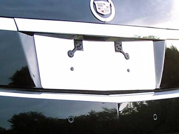 QAA - Cadillac CTS 2011-2013, 4-door, Sedan (1 piece Stainless Steel License Plate Bezel Includes Rear Camera Cut Out ) LP51251 QAA