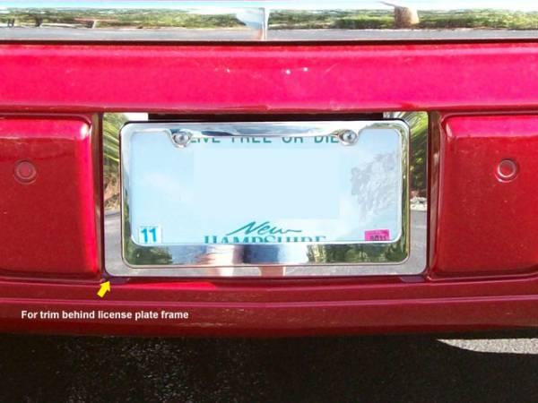 QAA - Cadillac DTS 2006-2011, 4-door, Sedan (1 piece Stainless Steel License Plate Bezel ) LP46245 QAA