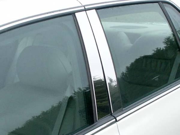 QAA - Cadillac DTS 2006-2011, 4-door, Sedan (4 piece Stainless Steel Pillar Post Trim ) PP40245 QAA