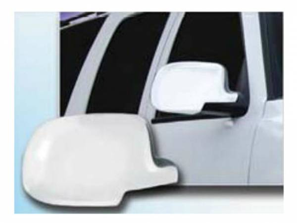 QAA - Cadillac Escalade 2002-2006, 4-door, SUV (2 piece Chrome Plated ABS plastic Mirror Cover Set ) MC40198 QAA