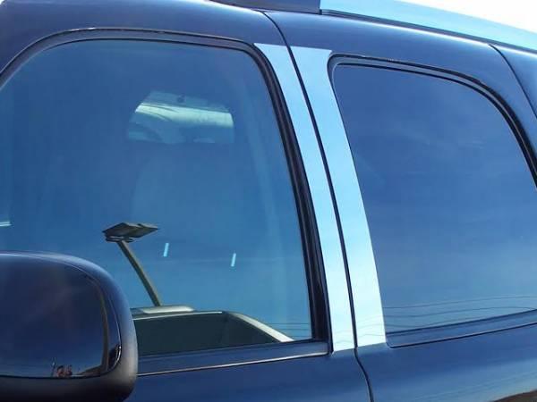 QAA - Cadillac Escalade 2002-2006, 4-door, SUV (4 piece Stainless Steel Pillar Post Trim ) PP42255 QAA