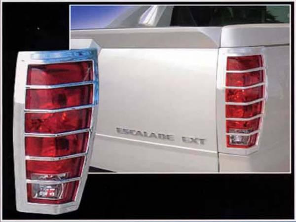 QAA - Cadillac Escalade 2002-2006, 4-door, EXT (2 piece Chrome Plated ABS plastic Tail Light Bezels ) TL42257 QAA