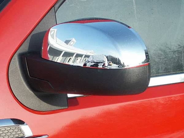QAA - Cadillac Escalade 2007-2014, 4-door, SUV (2 piece Chrome Plated ABS plastic Mirror Cover Set Top Half Only ) MC47195 QAA