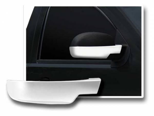 QAA - Cadillac Escalade 2007-2014, 4-door, SUV (2 piece Chrome Plated ABS plastic Mirror Cover Set Bottom Half Only ) MC47197 QAA