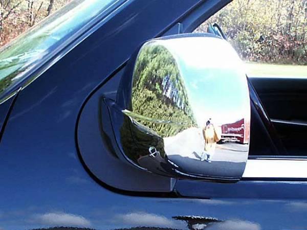 QAA - Cadillac Escalade 2007-2014, 4-door, SUV (2 piece Chrome Plated ABS plastic Mirror Cover Set Full ) MC47196 QAA