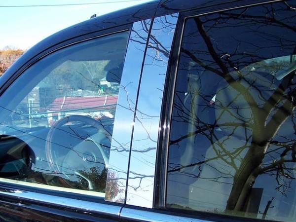 QAA - Cadillac Escalade 2007-2014, 4-door, EXT, ESV (4 piece Stainless Steel Pillar Post Trim ) PP47255 QAA
