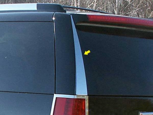 QAA - Cadillac Escalade 2007-2014, 4-door, SUV (2 piece Stainless Steel Rear Window Trim ) RW47255 QAA