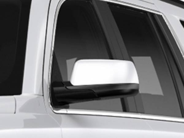 QAA - Chevrolet Suburban 2015-2020, 4-door, SUV (2 piece Chrome Plated ABS plastic Mirror Cover Set Snap on replacement set ) MC55195 QAA
