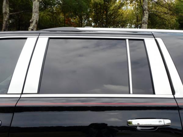 QAA - Cadillac Escalade 2015-2020, 4-door, ESV (8 piece Stainless Steel Pillar Post Trim ) PP55198 QAA