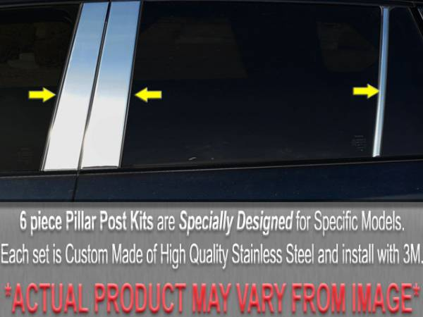 QAA - Cadillac DeVille 1994-1996, 4-door, Sedan (6 piece Stainless Steel Pillar Post Trim ) PP34246 QAA