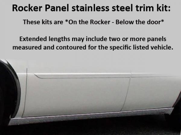 "QAA - Cadillac DeVille 2000-2005, Accubuilt, Limousine, 47"" Stretch (6 piece Stainless Steel Rocker Panel Trim, On the rocker 2.25"" Width, 47"" extension Installs below the door.) TH40259 QAA"