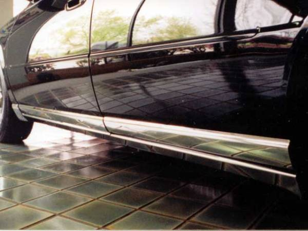 "QAA - Cadillac Seville 1998-2004, 4-door, Sedan (8 piece Stainless Steel Rocker Panel Trim, Lower Kit 4.75"" Width Spans from the bottom of the door UP to the specified width.) TH38236 QAA"