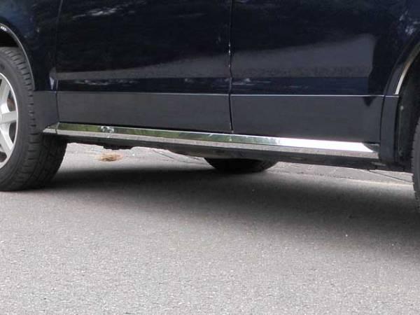 "QAA - Cadillac SRX 2004-2005, 4-door, SUV (6 piece Stainless Steel Rocker Panel Trim, On the rocker 2.25"" Width Installs below the door.) TH44260 QAA"