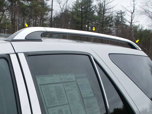 "QAA - Cadillac SRX 2004-2007, 4-door, SUV (6 piece Stainless Steel Roof Rack Trim 1"" Width ) RR44260 QAA"