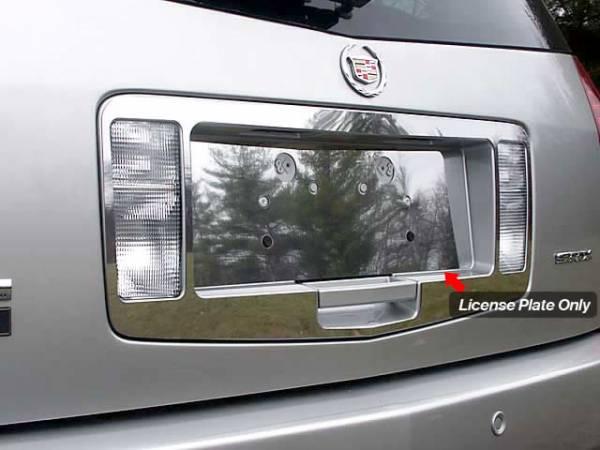 QAA - Cadillac SRX 2004-2009, 4-door, SUV (1 piece Stainless Steel License Plate Bezel ) LP44260 QAA