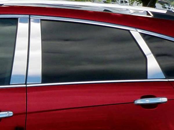 QAA - Cadillac SRX 2010-2016, 4-door, SUV (6 piece Stainless Steel Pillar Post Trim ) PP50261 QAA