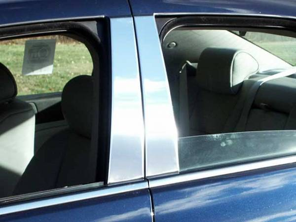 QAA - Cadillac STS 2005-2011, 4-door, Sedan (4 piece Stainless Steel Pillar Post Trim ) PP45236 QAA