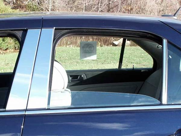QAA - Cadillac STS 2005-2011, 4-door, Sedan (6 piece Stainless Steel Pillar Post Trim ) PP45237 QAA