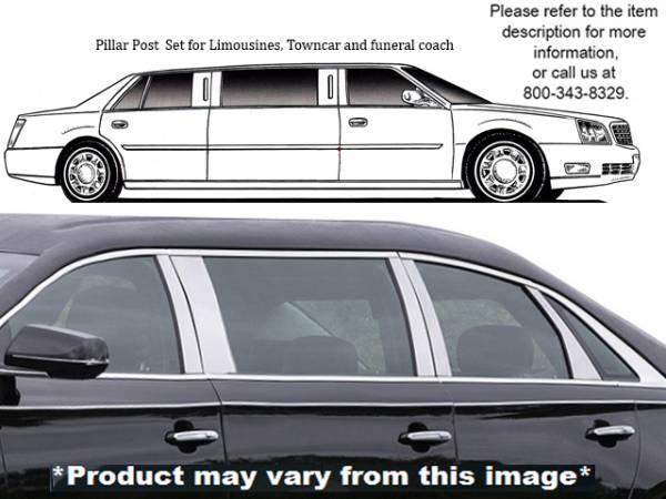 QAA - Cadillac XTS 2013-2019, Accubuilt Hearse Limousine (10 piece Stainless Steel Pillar Post Trim ) PP53222 QAA