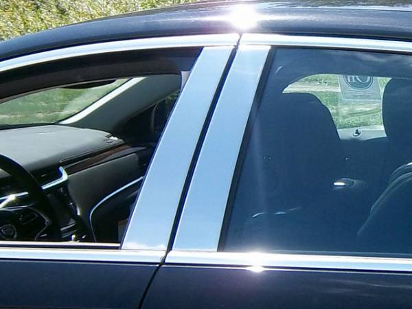 QAA - Cadillac XTS 2013-2019, 4-door, Sedan (4 piece Stainless Steel Pillar Post Trim ) PP53245 QAA