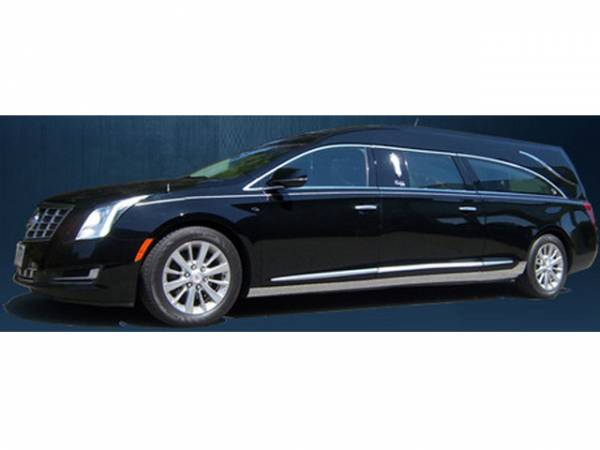 "QAA - Cadillac XTS 2013-2019, Accubuilt Limousine Hearse, 126 (6 piece Stainless Steel Rocker Panel Trim, On the rocker 3.18"" - 8.25"" tapered Width Installs below the door.) TH53244 QAA"