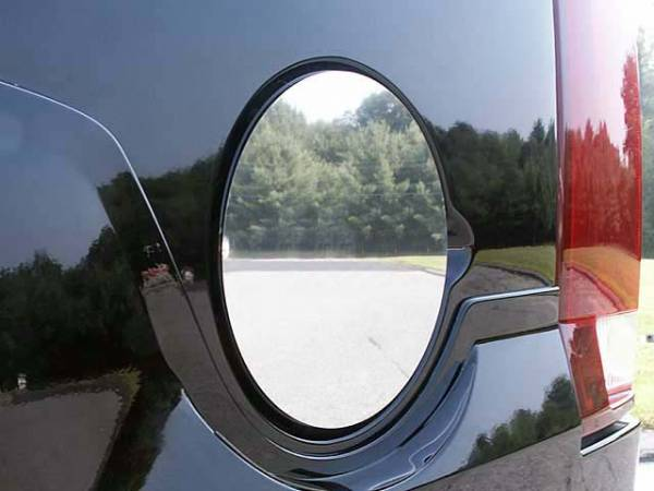QAA - Chevrolet Avalanche 2002-2013, 4-door, Pickup Truck (1 piece Stainless Steel Gas Door Cover Trim Warning: This is NOT a replacement cap. You MUST have existing gas door to install this piece ) GC42255 QAA