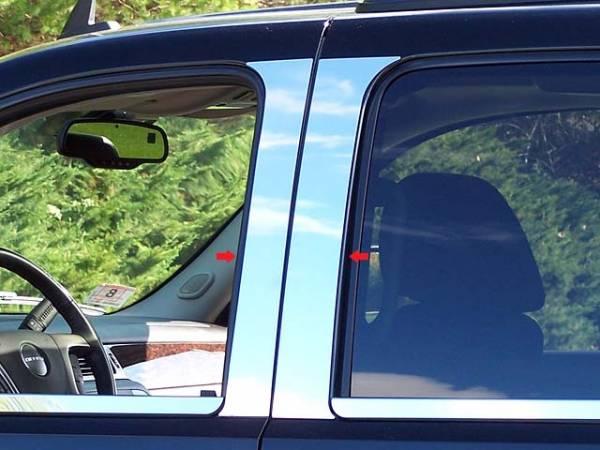 QAA - Chevrolet Avalanche 2007-2013, 4-door, Pickup Truck (4 piece Stainless Steel Pillar Post Trim ) PP47198 QAA