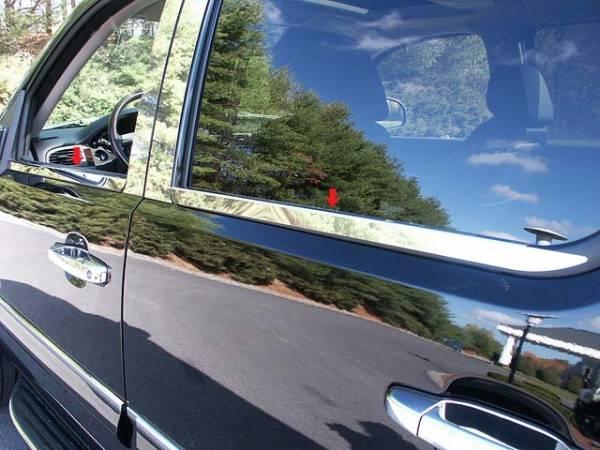QAA - Chevrolet Avalanche 2007-2013, 4-door, Pickup Truck (4 piece Stainless Steel Window Sill Trim Set ) WS47184 QAA
