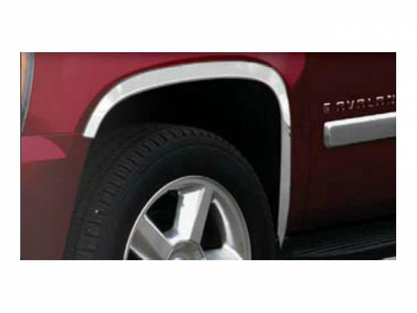 "QAA - Chevrolet Avalanche 2007-2013, 4-door, Pickup Truck Z71 (4 piece Molded Stainless Steel Wheel Well Fender Trim Molding 2.375"" Width Clip on or screw in installation, Lock Tab and screws, hardware included.) WZ47186 QAA"