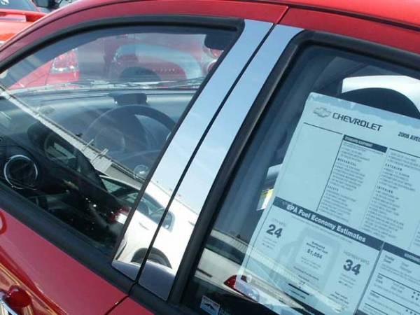 QAA - Chevrolet Aveo 2008-2011, 4-door, Subcompact Car (4 piece Stainless Steel Pillar Post Trim ) PP48125 QAA