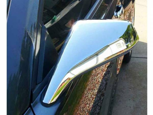 QAA - Chevrolet Camaro 2010-2013, 2-door, Coupe, Convertible (2 piece Chrome Plated ABS plastic Mirror Cover Set Full ) MC50100 QAA