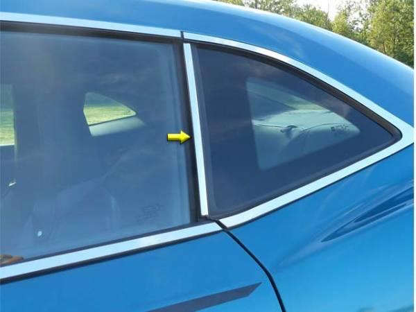 QAA - Chevrolet Camaro 2010-2015, 2-door, Coupe, Convertible (2 piece Stainless Steel Pillar Post Trim ) PP50100 QAA
