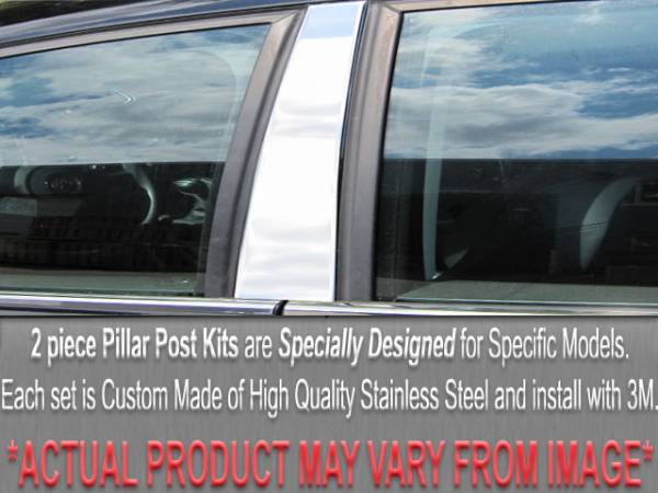 QAA - Chevrolet Caprice 1984-1990, 4-door, Sedan (2 piece Stainless Steel Pillar Post Trim ) PP19102 QAA