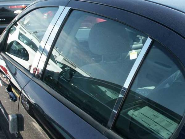 QAA - Chevrolet Cobalt 2005-2010, 4-door, Sedan (6 piece Stainless Steel Pillar Post Trim ) PP48121 QAA
