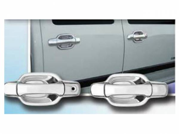 QAA - Chevrolet Colorado 2004-2012, 4-door, Pickup Truck (8 piece Chrome Plated ABS plastic Door Handle Cover Kit Includes passenger key access ) DH44151 QAA