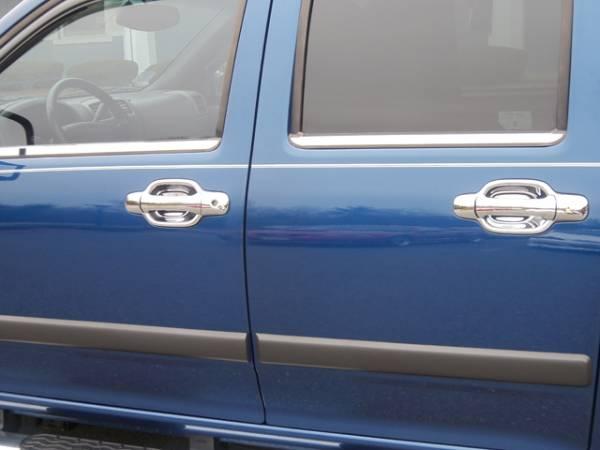 QAA - Chevrolet Colorado 2004-2012, 4-door, Pickup Truck (4 piece Stainless Steel Window Sill Trim Set ) WS44150 QAA