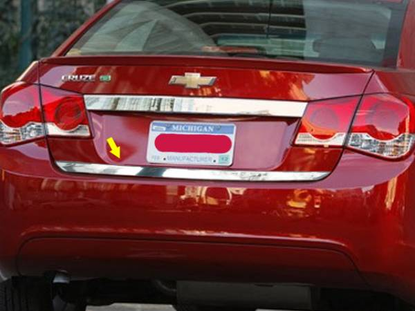 "QAA - Chevrolet Cruze 2011-2015, 4-door, Sedan (1 piece Stainless Steel Rear Deck Trim, Trunk Lid Accent 0.9375"" Width ) RD51145 QAA"