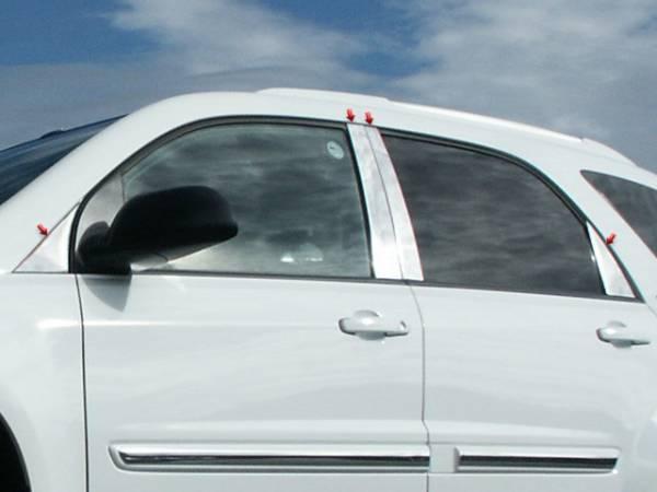 QAA - Chevrolet Equinox 2005-2009, 4-door, SUV (8 piece Stainless Steel Pillar Post Trim ) PP45162 QAA