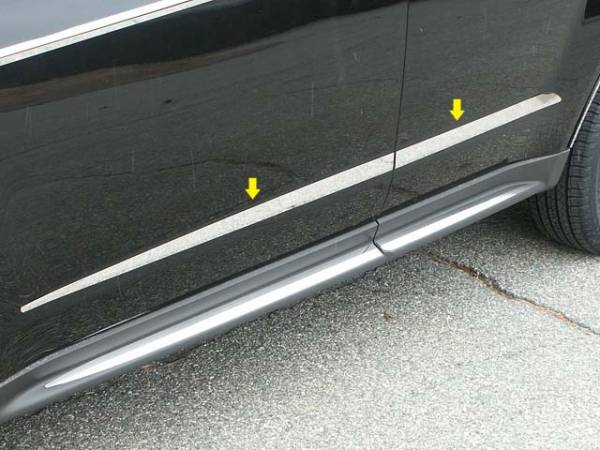 "QAA - Chevrolet Equinox 2010-2017, 4-door, SUV (4 piece Stainless Steel Body Molding Insert Trim Kit 0.5"" - 1.5"" tapered Width ) MI50160 QAA"