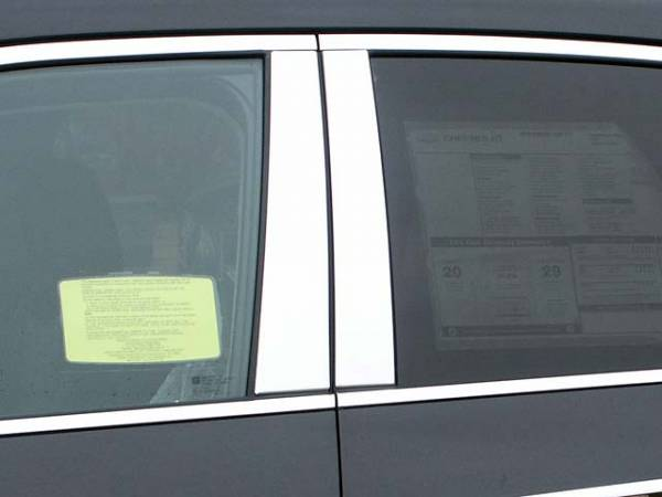 QAA - Chevrolet Equinox 2010-2017, 4-door, SUV (4 piece Stainless Steel Pillar Post Trim ) PP50160 QAA