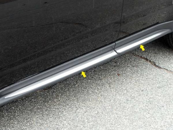 "QAA - Chevrolet Equinox 2010-2017, 4-door, SUV (4 piece Stainless Steel Rocker Panel Trim, Insert Kit 1.5"" Width, On the Cladding, adh. Perimeter Side Molding.) TH50160 QAA"