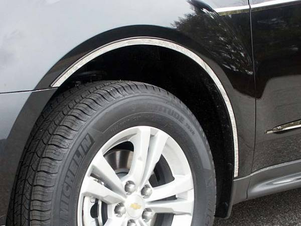 QAA - Chevrolet Equinox 2010-2017, 4-door, SUV (6 piece Stainless Steel Wheel Well Accent Trim With 3M adhesive installation and black rubber gasket edging.) WQ50160 QAA