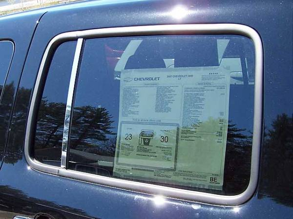 QAA - Chevrolet HHR 2006-2011, 4-door, Wagon (2 piece Stainless Steel Pillar Post Trim ) PP46140 QAA