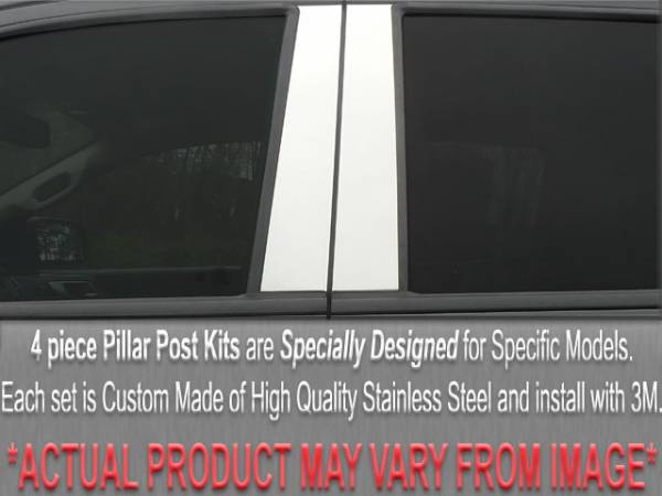 QAA - Chevrolet Impala 2000-2005, 4-door, Sedan (4 piece Stainless Steel Pillar Post Trim ) PP40135 QAA