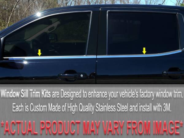 QAA - Chevrolet Impala 2000-2005, 4-door, Sedan (4 piece Stainless Steel Window Sill Trim Set ) WS40135 QAA