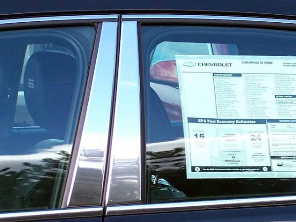 QAA - Chevrolet Impala - Limited 2014-2016, 4-door, Sedan, Limited (4 piece Stainless Steel Pillar Post Trim ) PP46135 QAA
