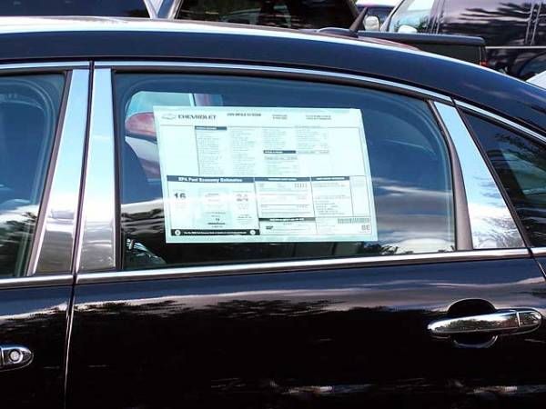 QAA - Chevrolet Impala 2006-2013, 4-door, Sedan (6 piece Stainless Steel Pillar Post Trim ) PP46136 QAA