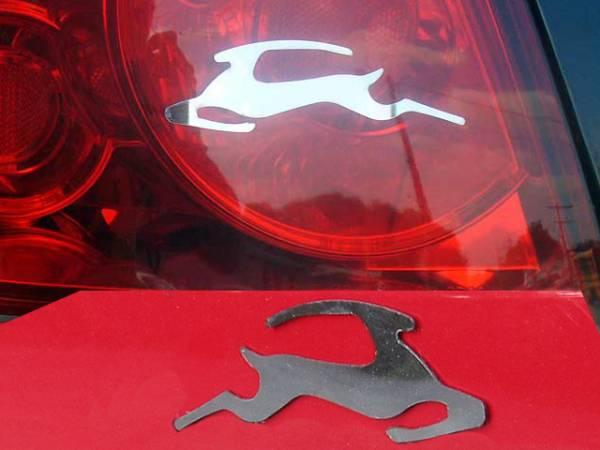 QAA - Chevrolet Impala 2000-2020, 4-door, Sedan (2 piece Stainless Steel Impala Emblem Outline, Set of Two ) SGR46135 QAA